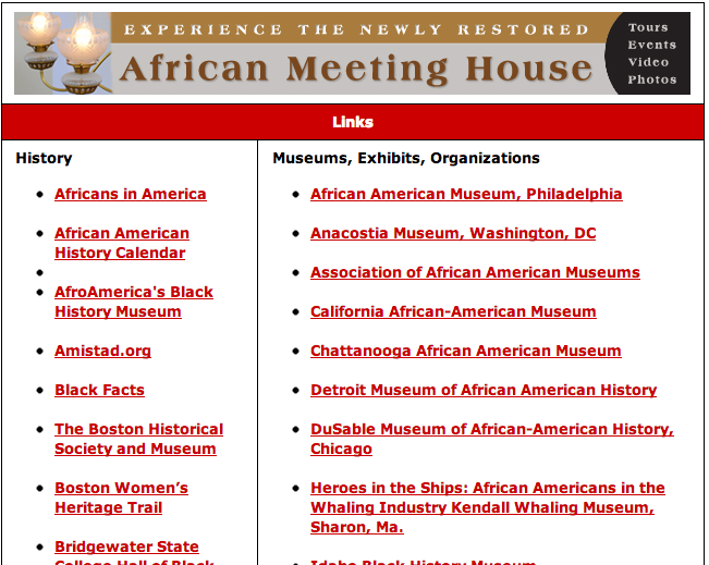 Links Museums of Afro-American History